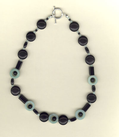 Onyx and Aventurine Choker Necklace