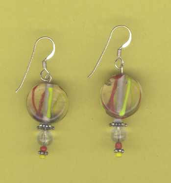 Red Yellow Acrylic Earrings
