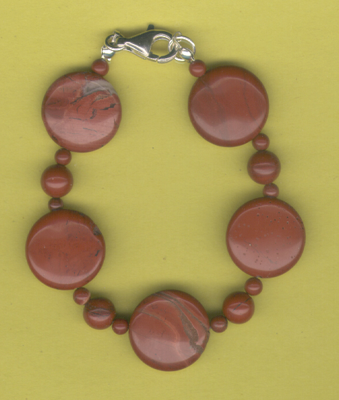 Burnt Red Agate Stone Bracelet