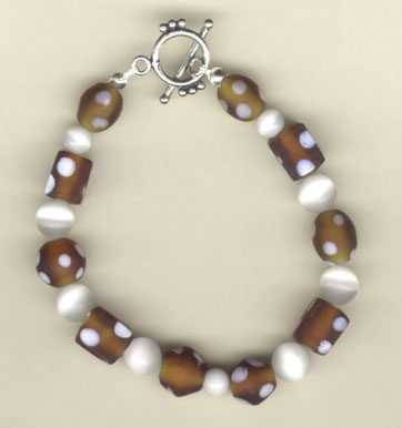 brown frost beaded bracelet