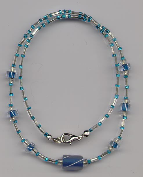 Blue Frost Necklace
